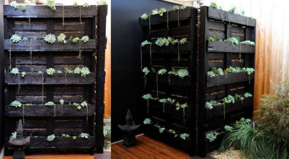 Wooden-Pallet-Outdoor-Plant-Shelf