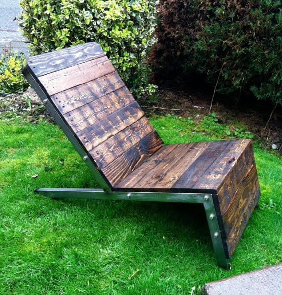 pallet chair metal frame