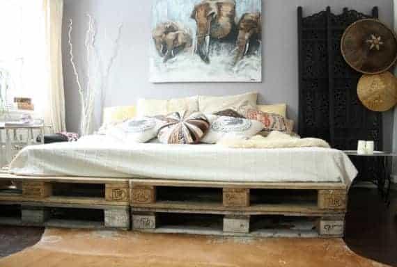 Bed Frame Furniture From Pallet Diy