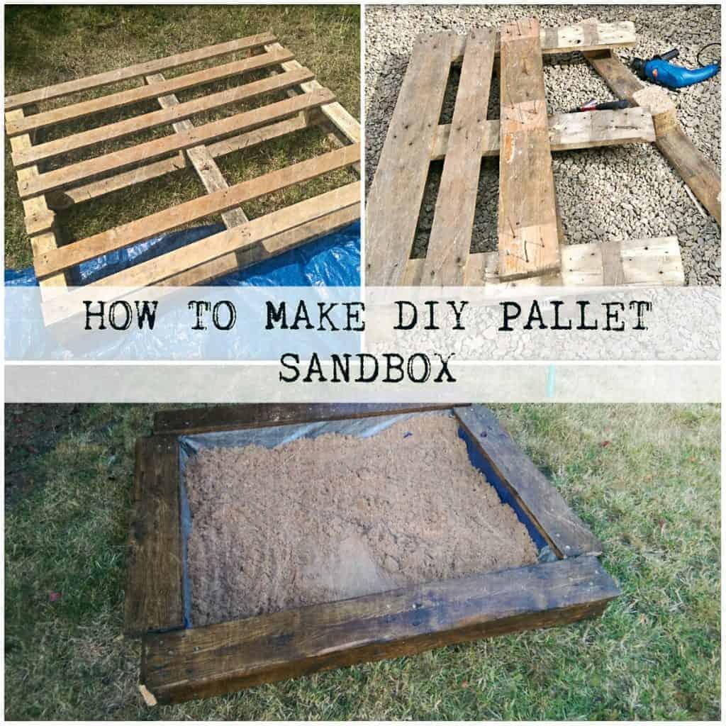 How to Make DIY Pallet Sandbox