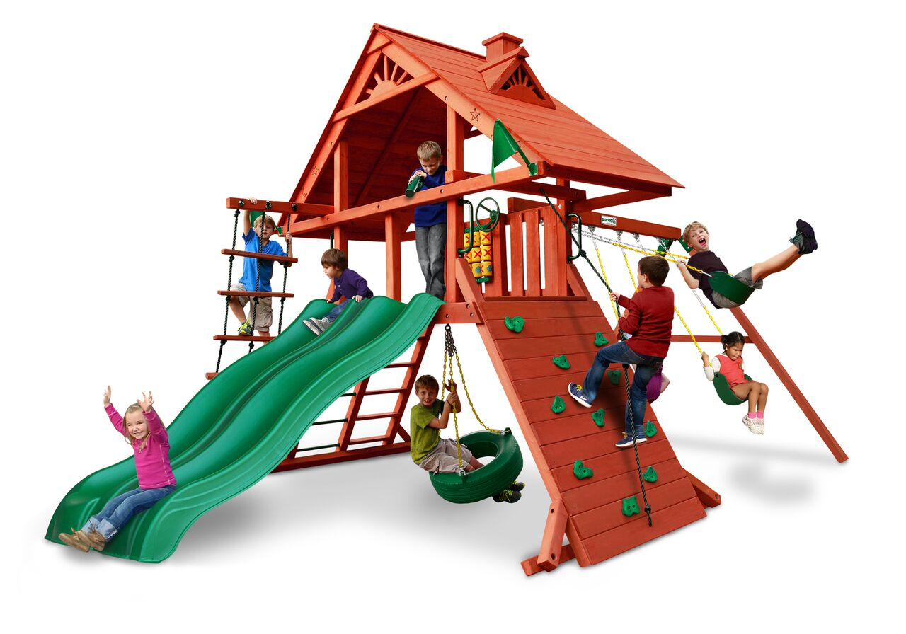 Playnation Swing Sets Dane S Den Wooden Playset With Wood
