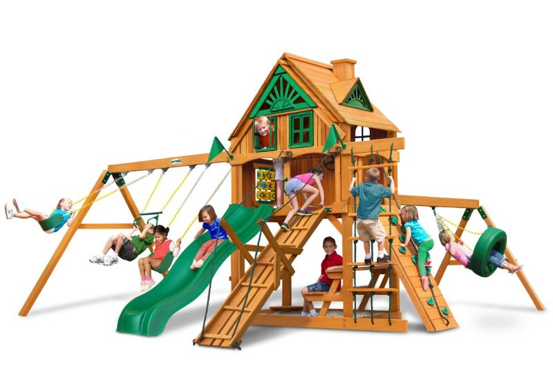 Gorilla Playsets Frontier Treehouse with Fort-Add-On - AP