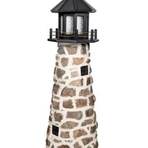 Beaver Dam 5 FT Stone Lighthouse - Black