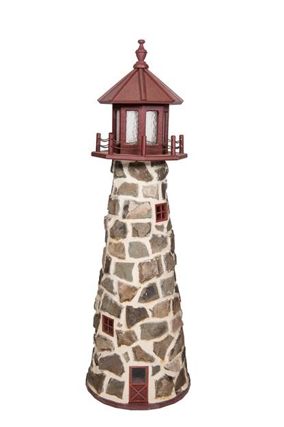 Stone Lighthouse by Beaver Dam