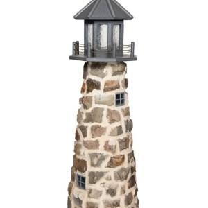 Beaver Dam 5 FT Stone Lighthouse - Gray