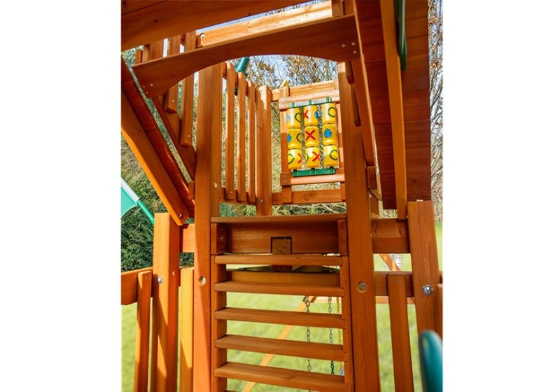 Gorilla Playsets Chateau with Sky Loft - Inside View