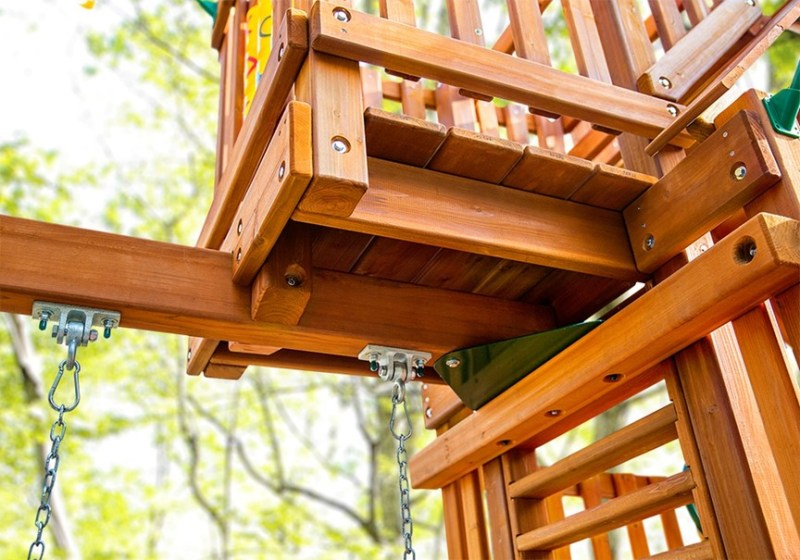 Gorilla Playsets Chateau with Sky Loft - Underneath View