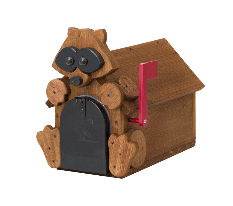 Raccoon Mailbox by Brookside Woodworks