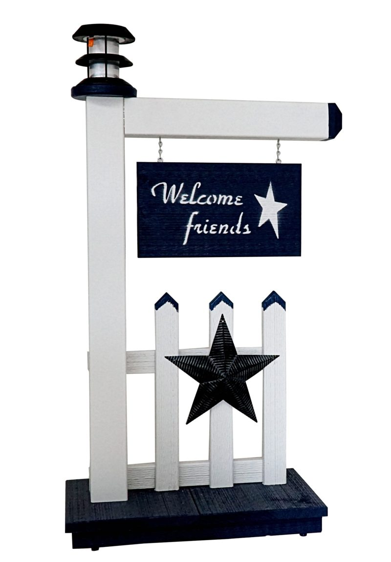 Keystone Woodworking Welcome Friends Sign