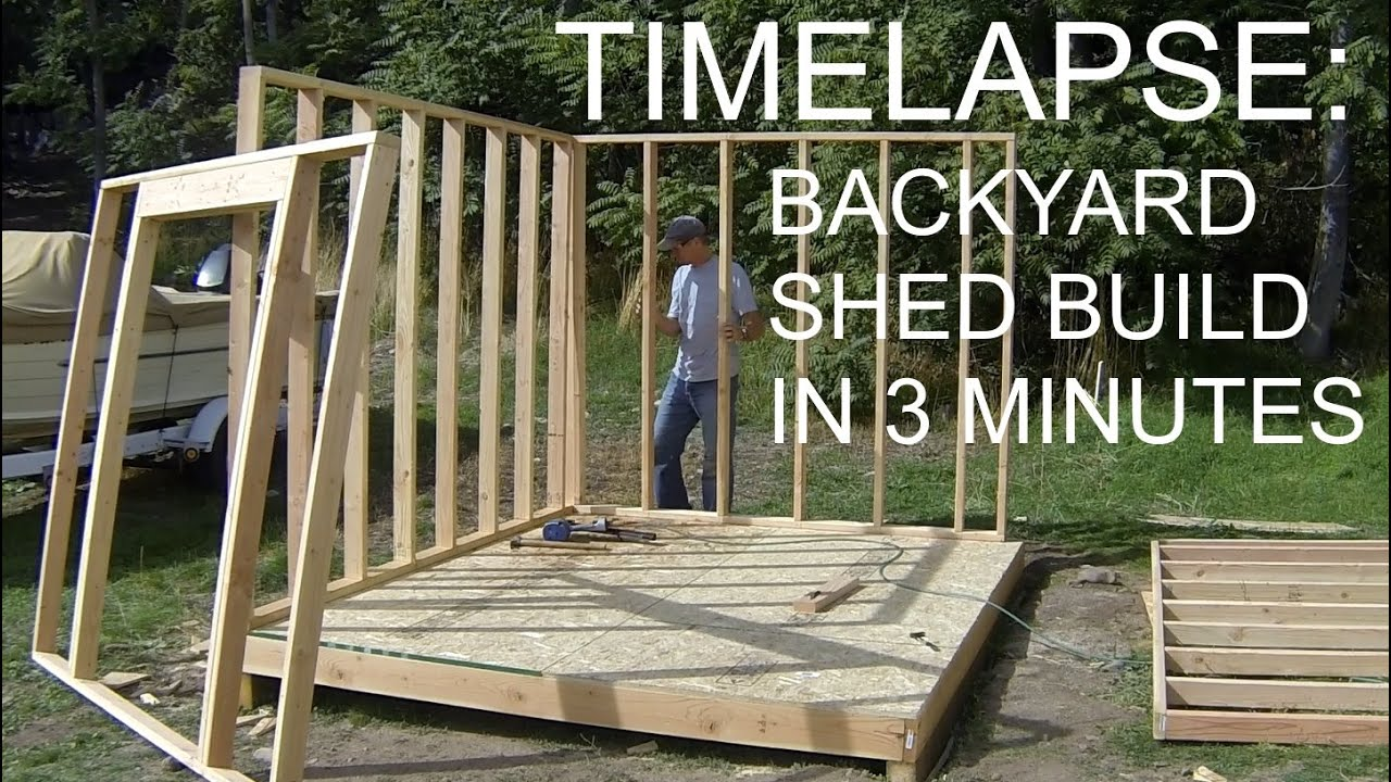 Complete Backyard Shed Build In 3 Minutes Icreatables Shed Plans Wooden Shed Plans