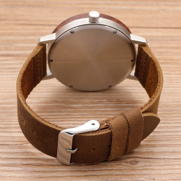 BOBO BIRD K06 Roma Dial Men Watches With Rose Wooden Unique Quartz Watch With Gift Box 5