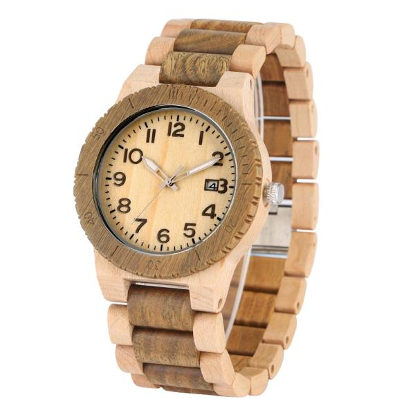 Quartz Wood Watch for Men Natural Maple Strap Wooden Watches for Female Luminous Pointers Wooden Wristwatch relogios masculinos 2