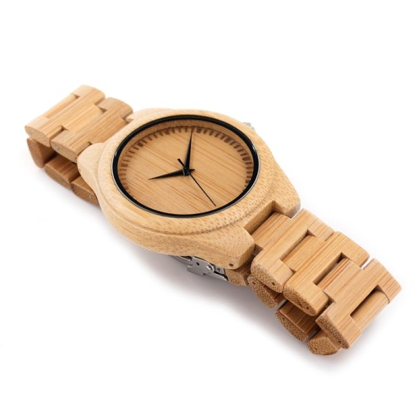Men Business Watch Bamboo BOBO BIRD Wristwatches with Bamboo Band Wood Watch for Men Dropshipping Accept Customize C-D19 3