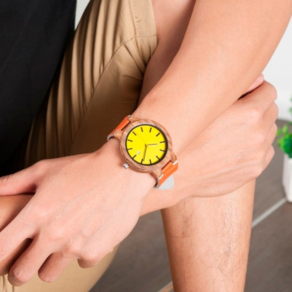 BOBO BIRD L-O09 Yellow Dial Ladies Watches with Calendar Design Zebra Wooden Watches for Men in Gift Box Drop Shipping 6
