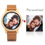 Creative Personality Lovers Watches UV Printing Photos Customers Bamboo Watch Customization Print OEM Great Gift for Love OEM 1
