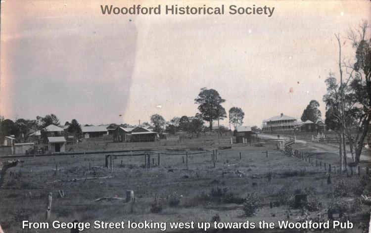 From George Street looking west up towards the Woodford Pub
