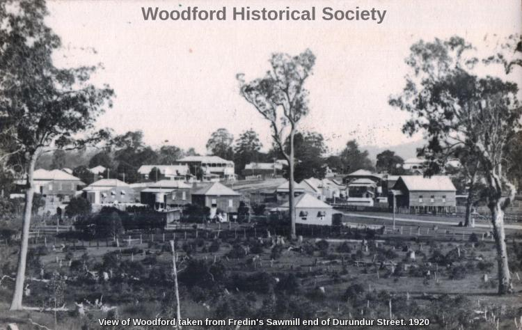 View of Woodford taken from Fredins Sawmill end of Durundur Street 1920