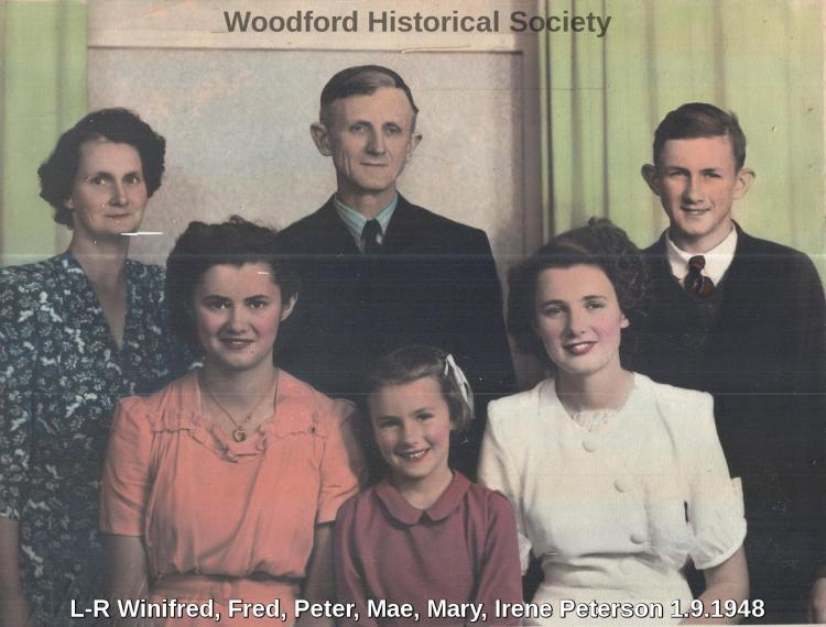 Winifred, Fred, Peter, Mae, Mary, irene Peterson 1.9.1948
