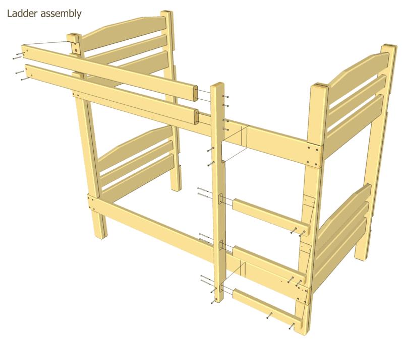 loft bed ladder design