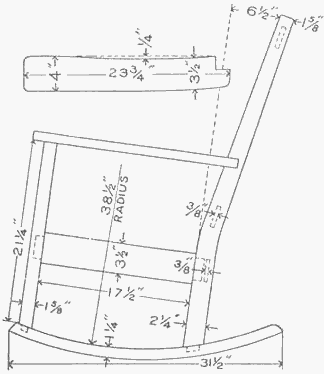 Maloof Rocker Templates