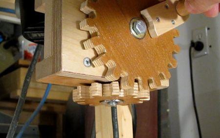 Como hacer engranajes de madera