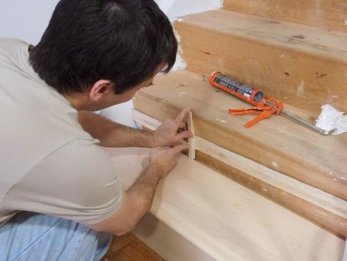 Installing Treads And Risers On Existing Stairs