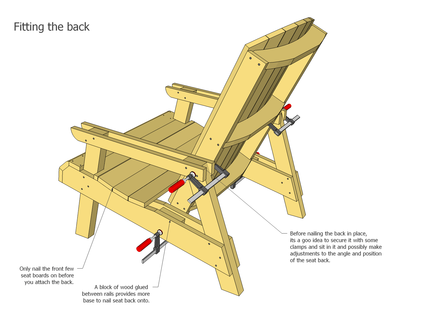 wooden lounge chair plans breakfast nook chairs lawn assembly if you are building a lot of