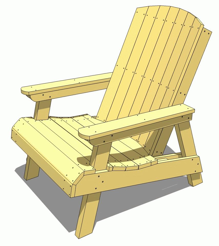 adirondack lawn chair plan