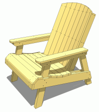 Adirondack Chair Woodworking Plans With Simple Minimalist ...