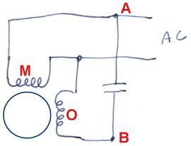 reversing split phase motor wiring diagram yanmar hitachi alternator single induction motors a