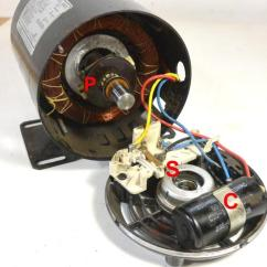 Single Phase Capacitor Start Induction Motor Connection Wiring Diagram 1995 Ford Mustang Radio Reversing Motors This Starter Winding Is In Series With A C And Centrifugal Switch S The Mounted Inside Main