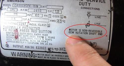 single phase capacitor start induction motor connection wiring diagram photoelectric switch reversing motors the label on this indicates is non reversible