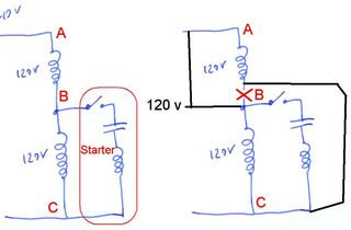 dual voltage single phase motor wiring diagram er symbols with its meaning reversing induction motors rewiring a from 240 and 120 volts