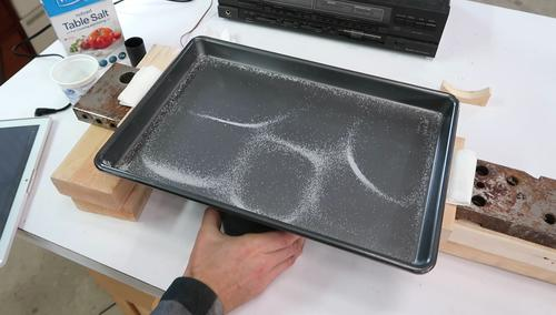 Metal plate resonance experiments using only household items