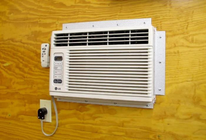 Small Air Conditioners Outside