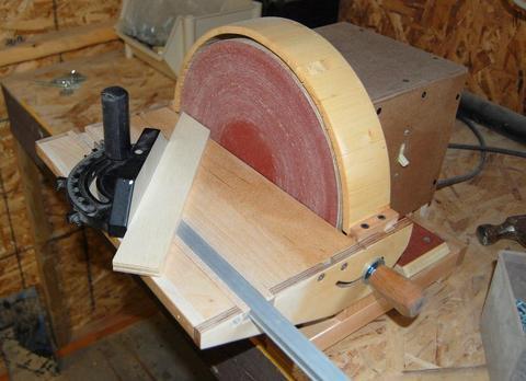 John Heiszs homemade disk sander