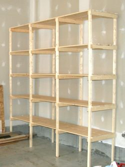 wanted to write about building storage shelves, but really didn't