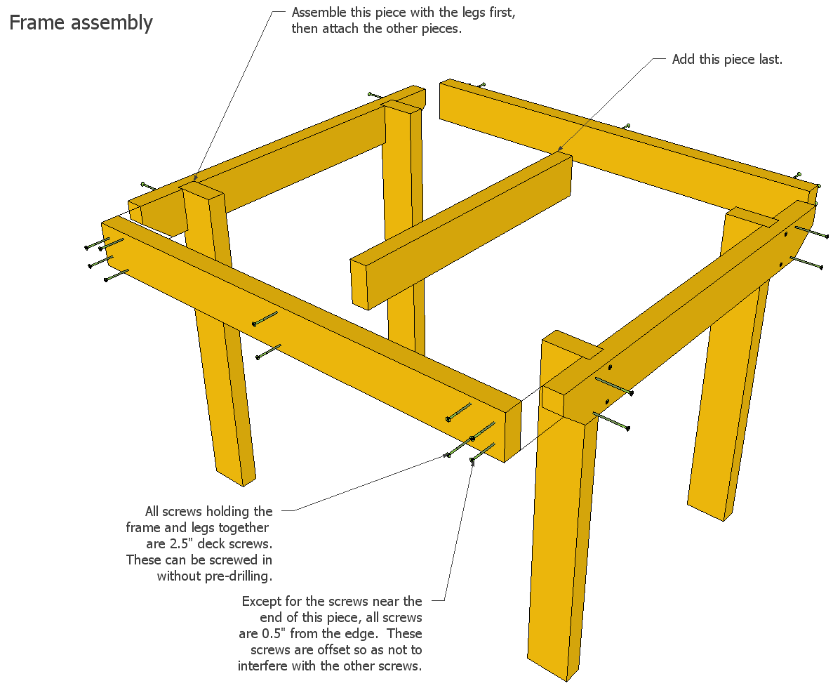 hight resolution of wood porch diagram