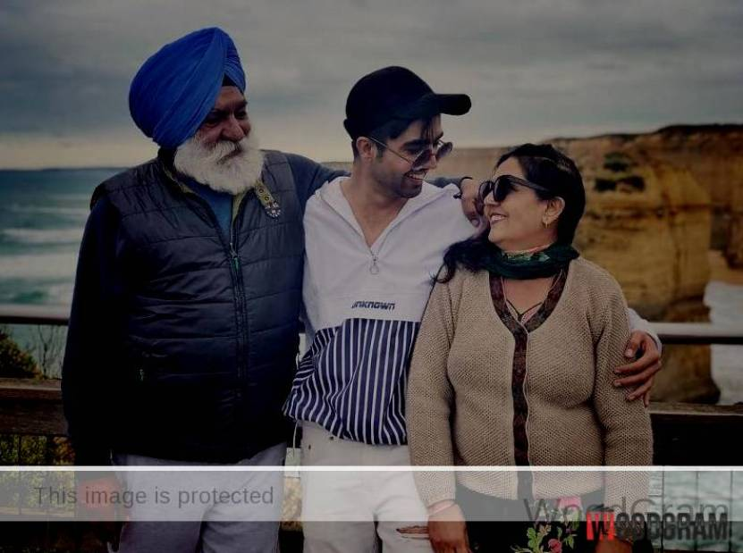 Hardy Sandhu With Father, Mother