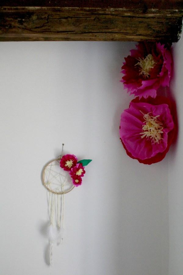 Diy Wall Art Printanier Fleurs De Papier Attrape
