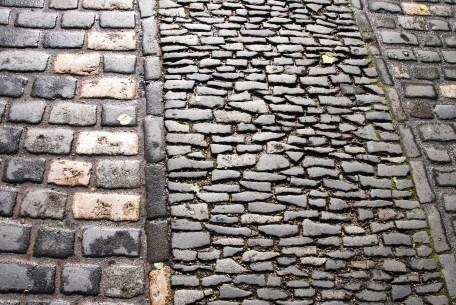 Stone paving inside Edinburgh Castle