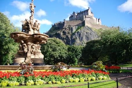 The Ross Fountain and Edinburgh Castle