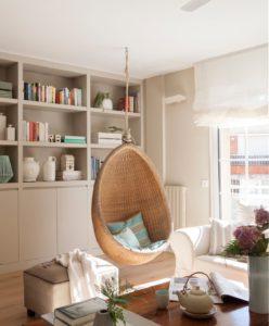 Columpios y hamacas colgantes para interior  Muebles