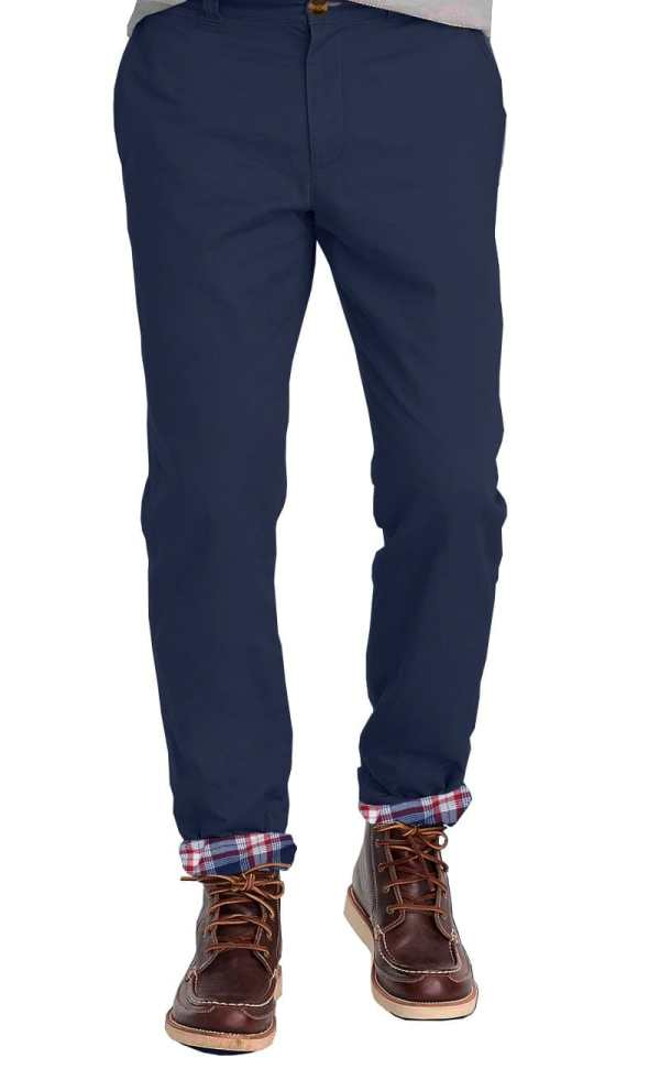 Navy Flannel Lined Stretch Chino Tailor Woodiesclo