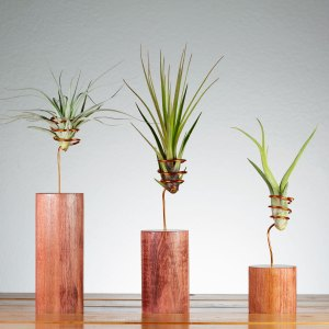 Set of 3 Cherry Wire Vase