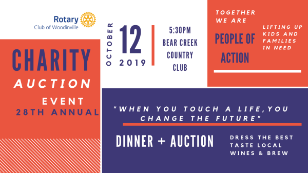 Rotary Club Of Woodinville 28th Annual Fund Raising Dinner
