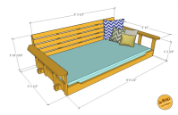Build a Porch Bed Swing: Plans and Video How-To - Wood. It ...
