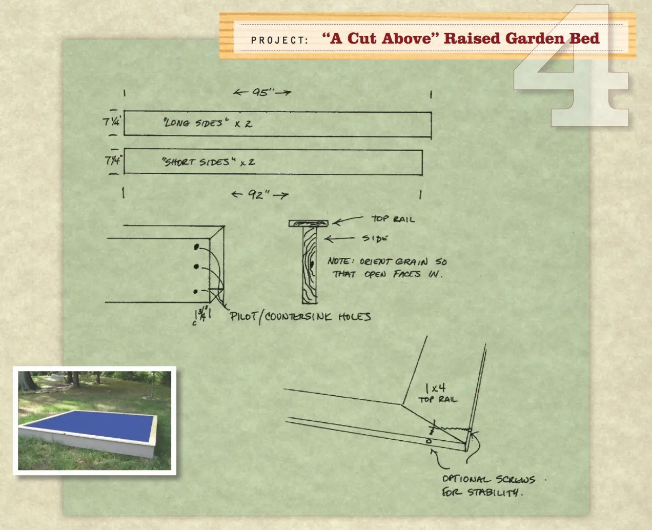 hight resolution of garden bed drawing