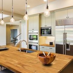 Kitchen Island Tops Moen Bronze Faucet Interbuild Top Butcher Block Acacia 74 Inch X 40 1 Wood Golden Teak