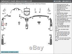 Basic Dash Trim Kit 30 Pcs Fits Chevy Cruze 2010-2015 Wood